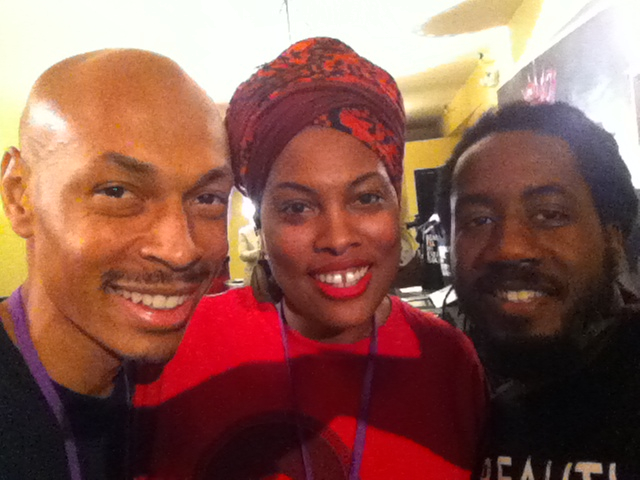 Director of Till Infinity with Aishah Rashied Hyman of Spread Love and Carlton Mackey of 50 Shades of Black