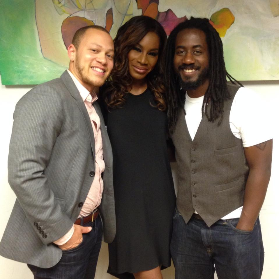 50 Shades of Black Co-Directors Ross Oscar Knight and Carlton Mackey with Belle director Amma Asante.