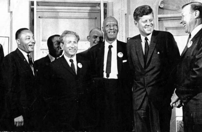 Asa Philip Randolph with MLK & JFK
