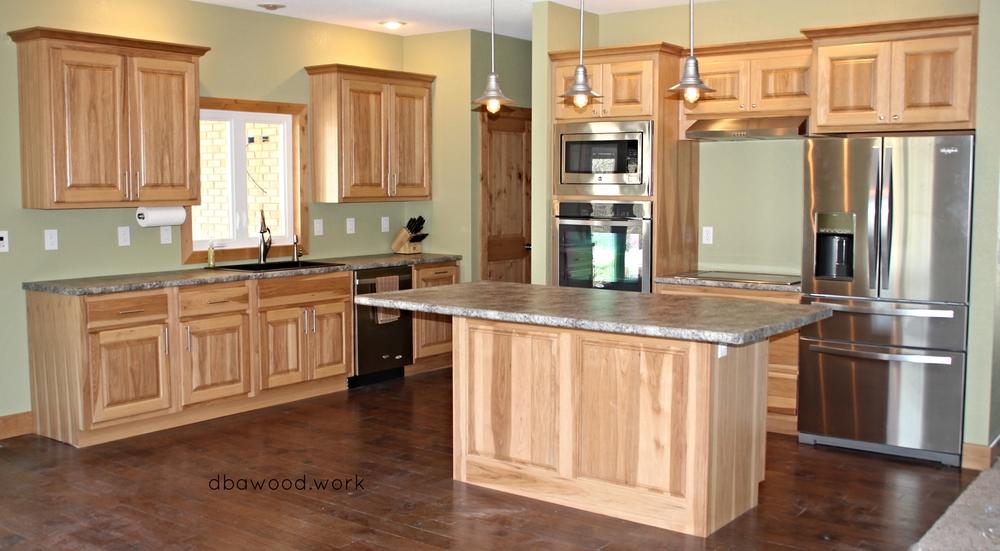 Nice Hickory Kitchen Island Festooning - Home Design Ideas and ...
