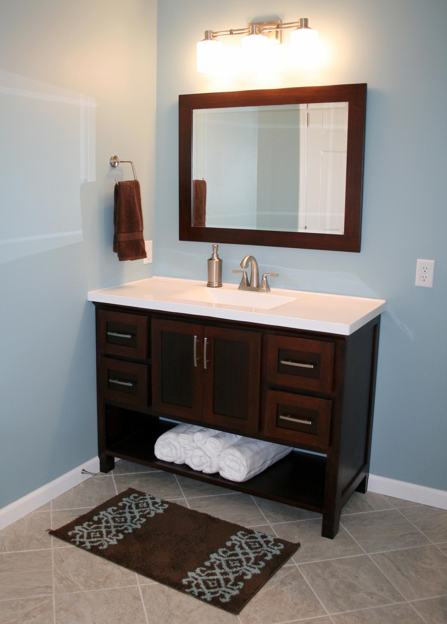 Vanity Towel Rack St Rose Il Dba Custom Woodworking