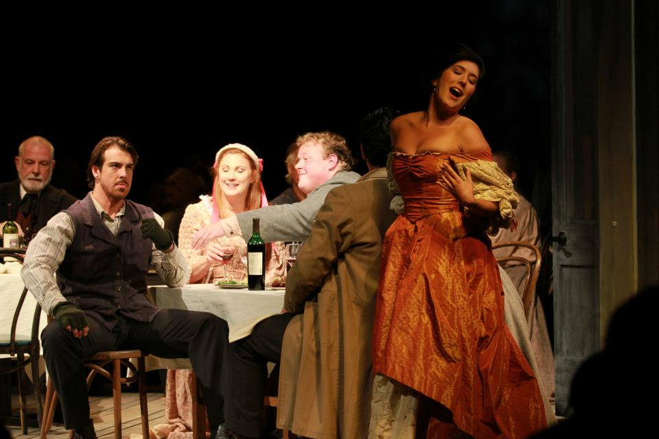 As Musetta in  La bohème  with Hidden Valley Opera Ensemble (2013)