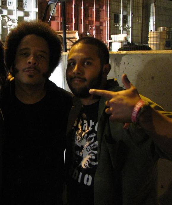 Boots Riley and me! I'm a lucky guy! Now it's time to get serious...