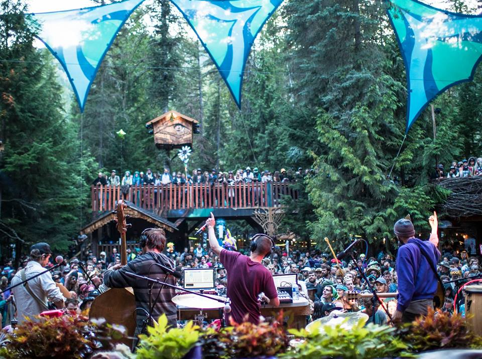 Moontricks ripping up the Grove at Shambhala. Photo by Louis Bockner Photography.