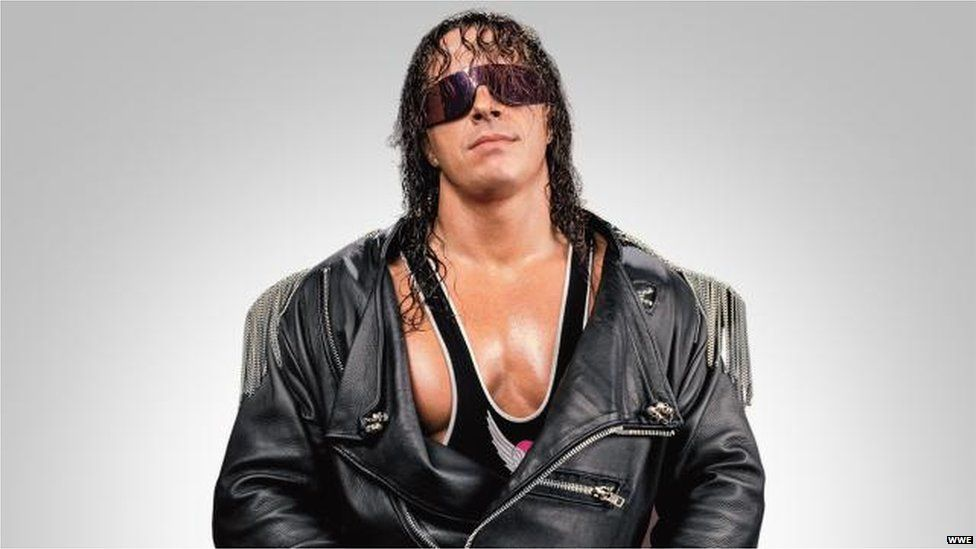 Bret Hart always has a serious face.