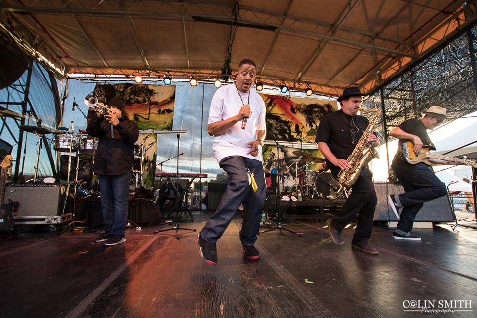 Ozomatli and their longtime brother Chali 2na. Photo by the living smile  Colin Smith Photography.