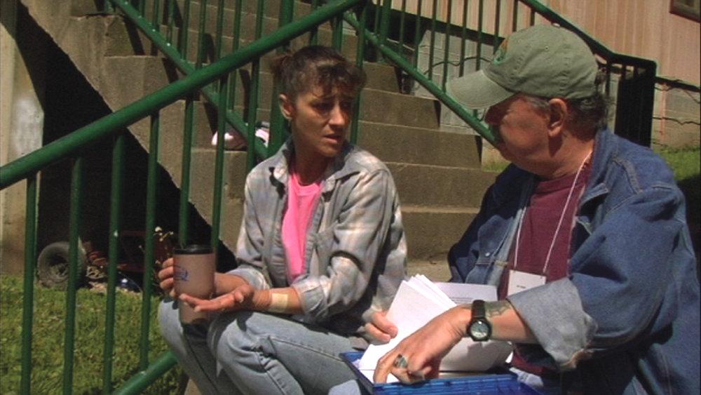 2005, Bo Webb collects health information going door to door in Coal River Valley, WV.