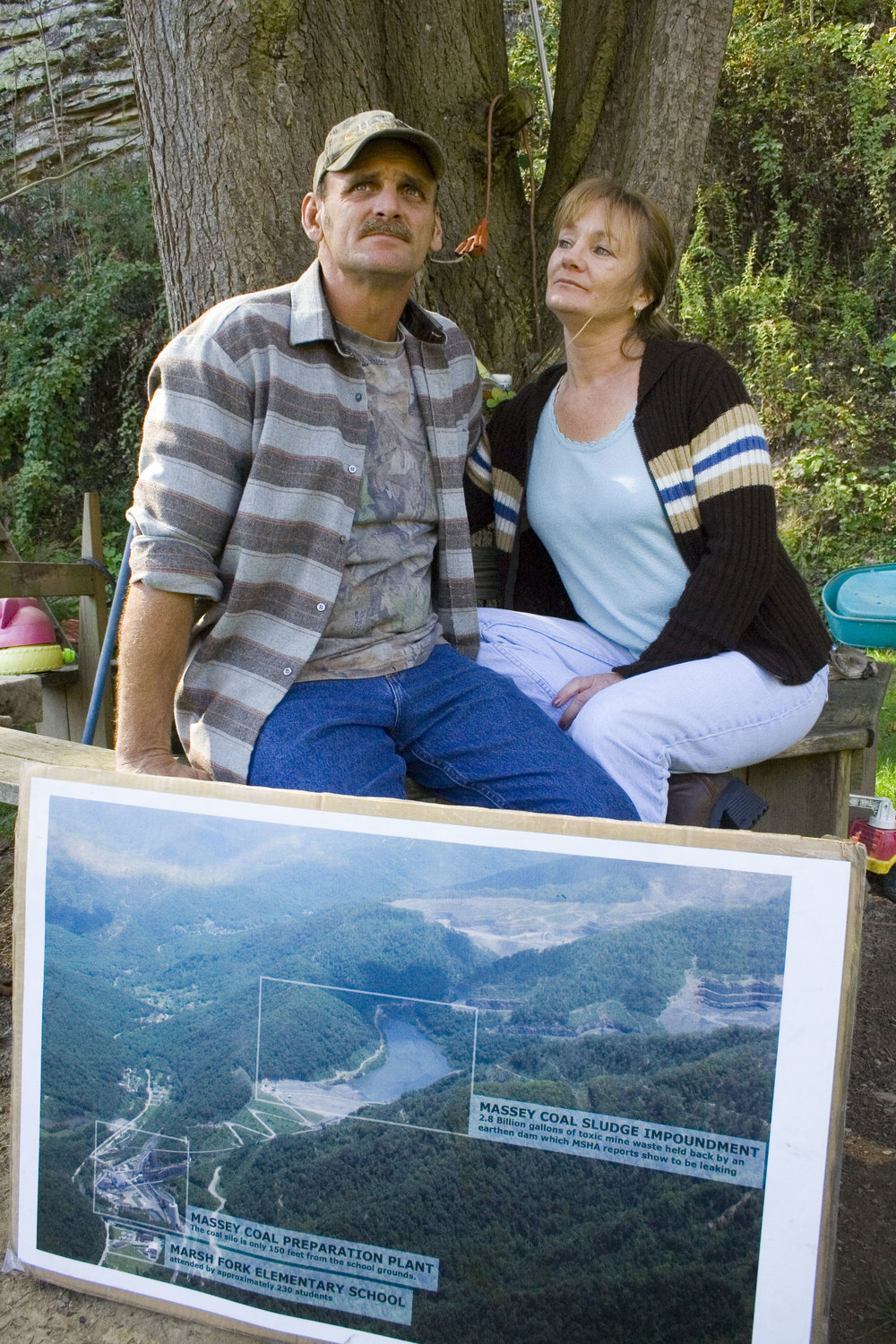 Screening at the home of Ed and Deb Wiley to local community residents Peach Tree, WV in 2011.