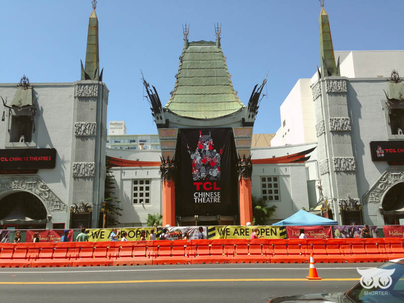 The famous Chinese Theater