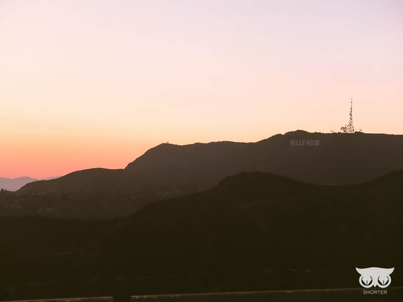 Great view of Hollywood sign from the top as the sun was setting.