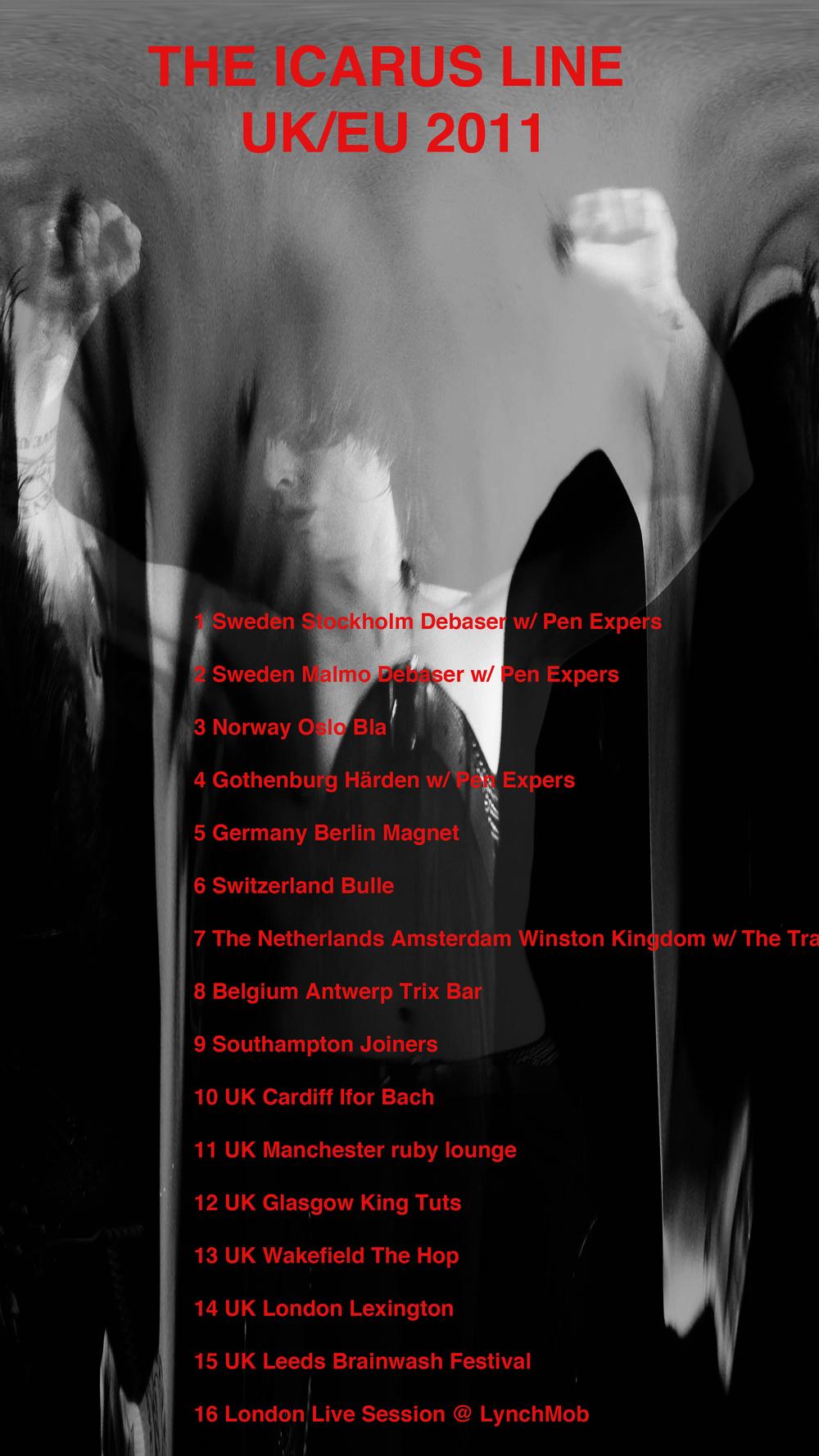 THE ICARUS LINE UK/EU TOUR DATES OCTOBER 2011