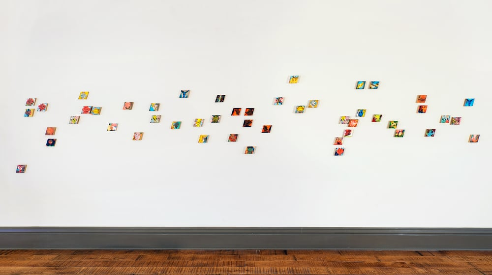 Installation view,  Stack Overflow  CSPS Commons Gallery, Cedar Rapids, IA 2015