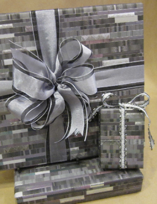Beautiful papers and ribbons for sumptuous wrapping.