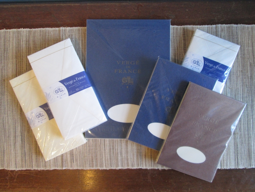 Lalo Stationery in A4 and A5 notepads and envelopes.