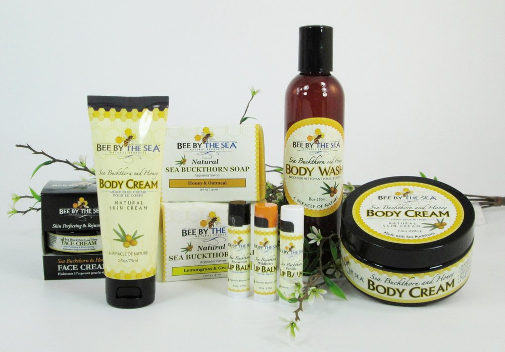Bee By the Sea skin care products made with sea buckthorn and honey. Made in Ontario!