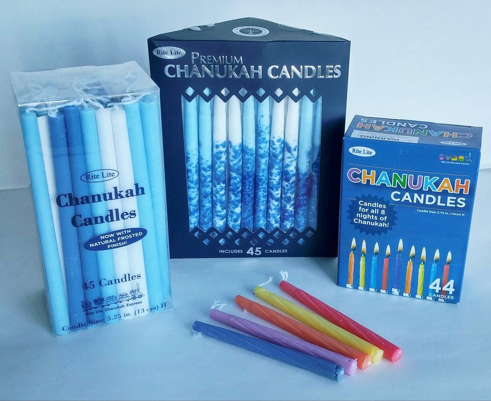 We've a nice selection of Hanukkah candles this year. Also look for cards, wall decor, napkins, wrap and other great products to brighten the Festival of Lights.  November 9, 2017