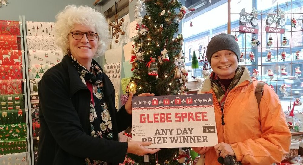 Congratulations to the lucky winner of our 2018 Any Day Prize! Dierdre Walters lives in the Glebe and was surprised by a $100 gift certificate from The Papery this afternoon- well worth braving today's sleety weather.  December 14, 2018