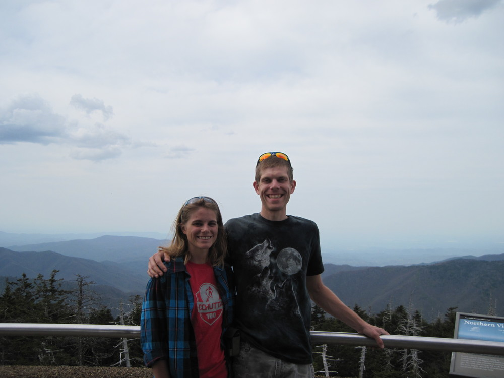 Kelly and I on top of Clingman's Dome.