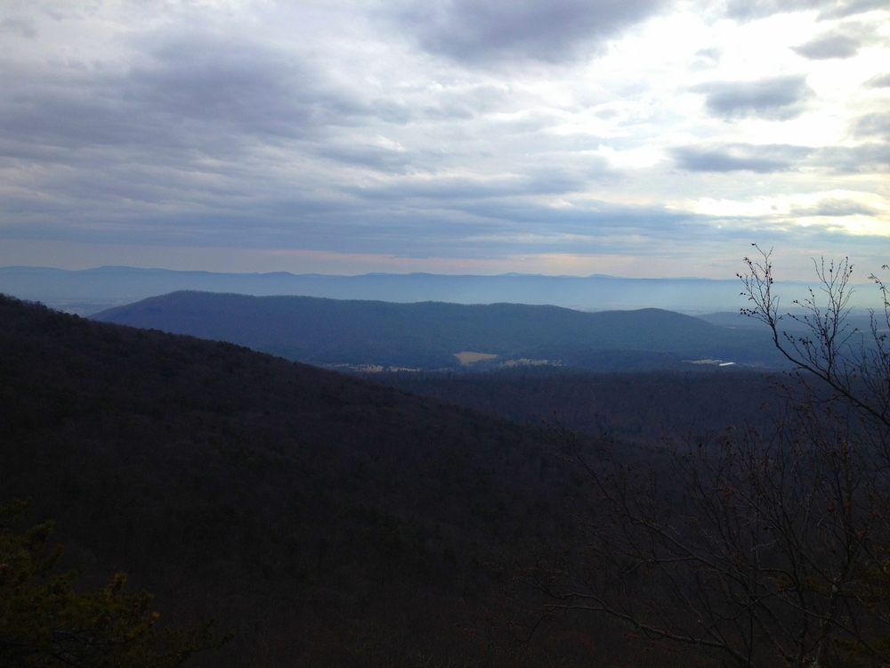 A big wilderness basin on the eastern edge of Virginia