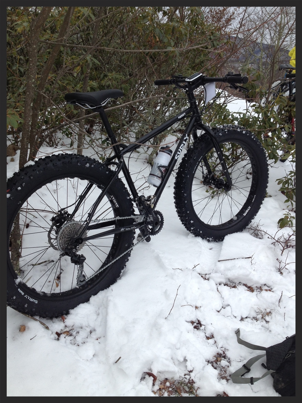 My fat bike at Oak Knob ready to drift down hill!!