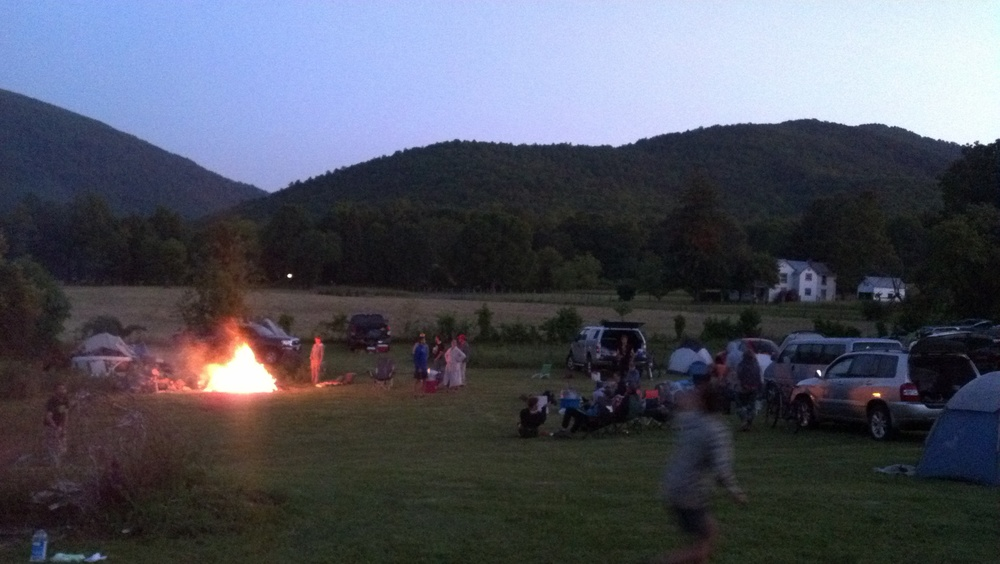Frisbee and a bonfire!