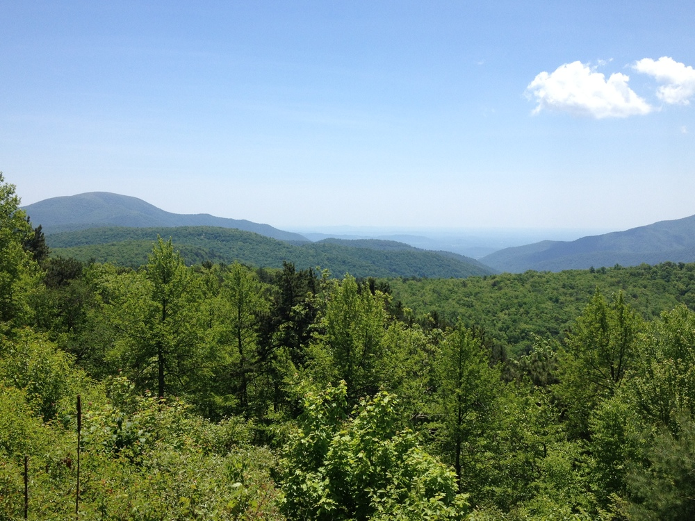 One of the many spectacular views of the parkway!