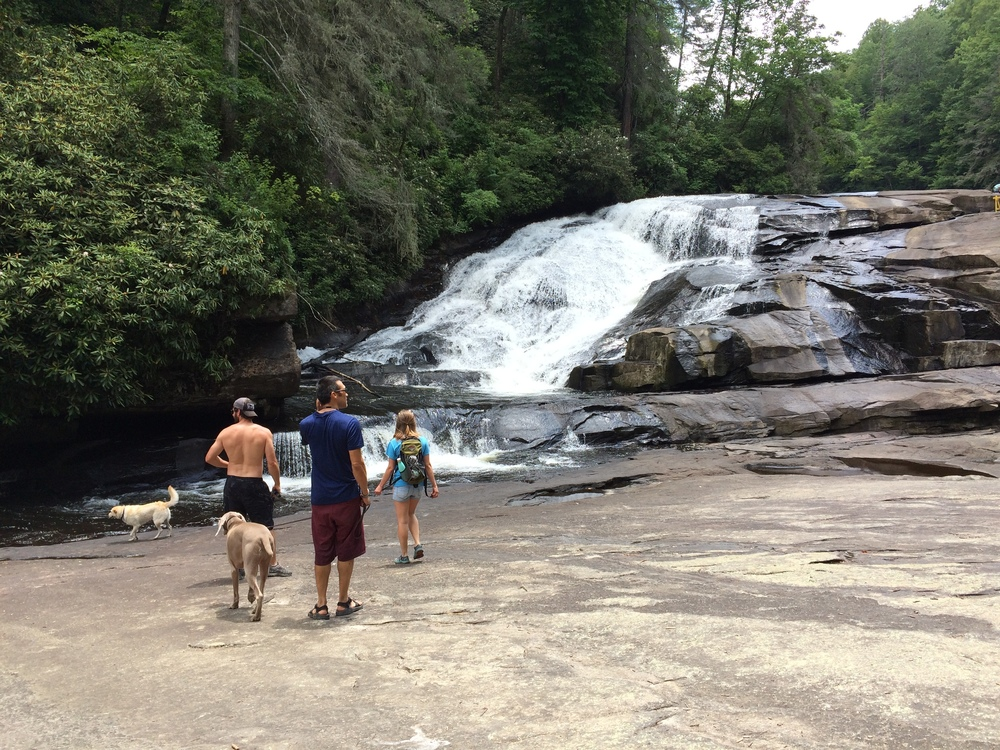 Triple Falls in Dupont State Forest, NC
