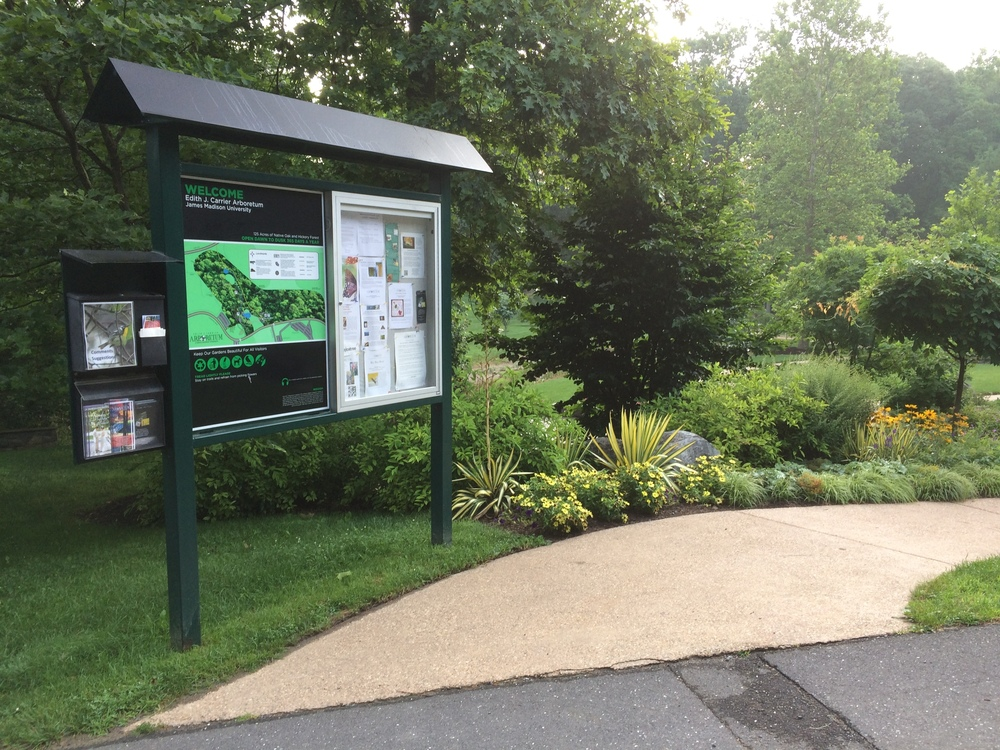 This kiosk gives a good overview of the trail network, as well as the many activities hosted at the Arboretum.