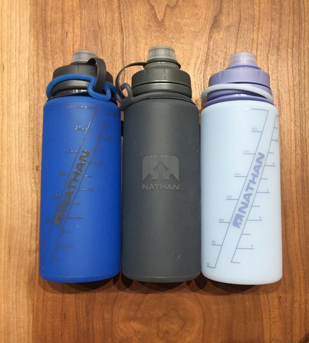 The Nathan Flex Shot bottles sell for $19.99 each.