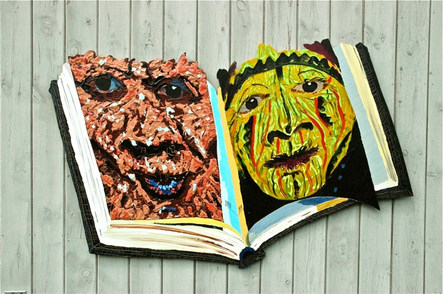 "Man as Art   ,  Roger Kizik. 2002   50"" x 60"", acrylic on canvas"
