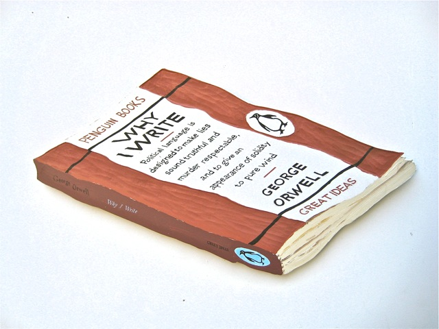 "Why I write  . Roger Kizik, 2008.  24"" x 42"", acrylic on panel"