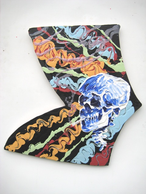 "Van-da-Man   .  Roger Kizik, 2008.   44"" x 38"", acrylic on canvas"