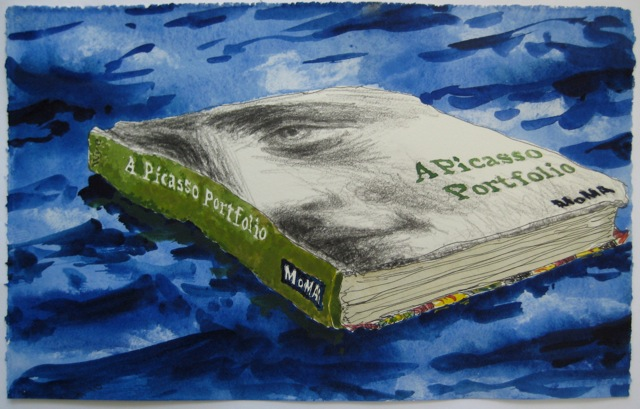 "Voyager   .  Roger Kizik, 2010.   7"" x 11"", watercolor, colored pencil, on paper"
