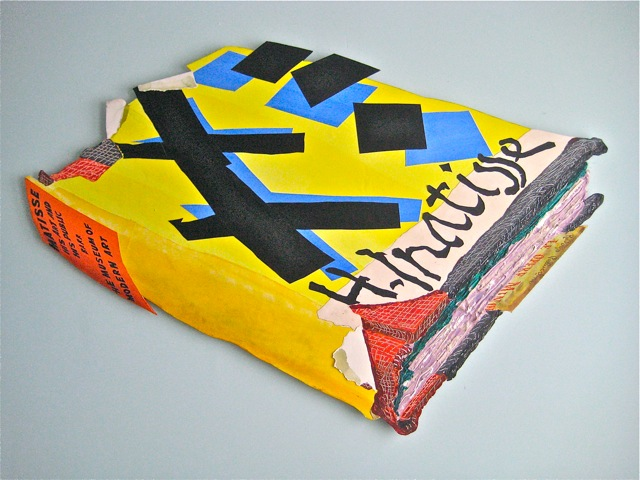 "Pallucchini's Matisse   . Roger Kizik, 2011.   47"" x 67"", acrylic, cut paper, on panel."