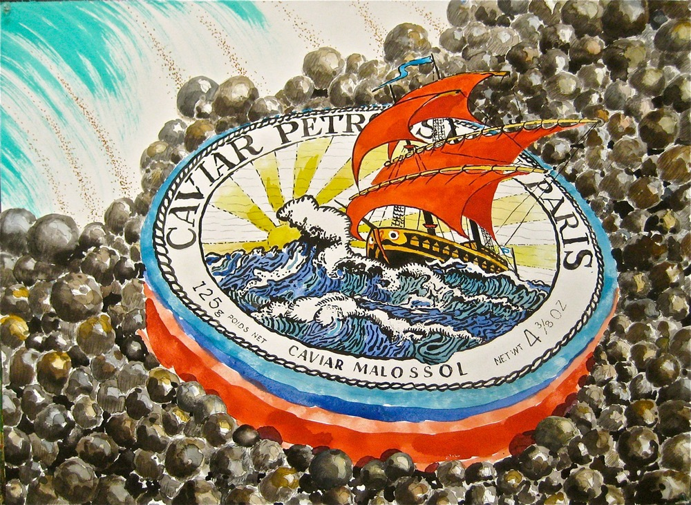 "Precipice   .  Roger Kizik, 2011.  23"" x 30"", watercolor, ink, acrylic, on paper"