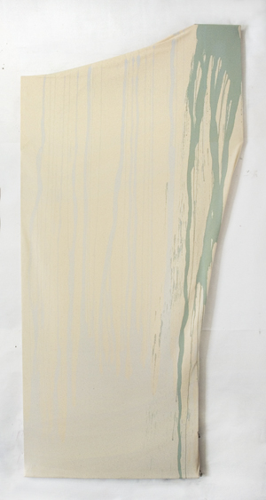 "Untitled  , Maria Walker. 2009.  71"" x 34"", Acrylic, canvas, wood."