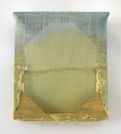 "Untitled  , Maria Walker. 2011.  16 x 14.25 x 4.5"", Acrylic, canvas, burlap."