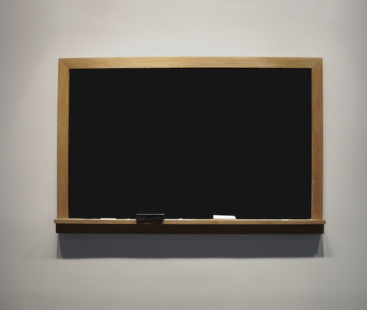 "Draw The Home  , Joan Backes  2' 9"" x 4' 5"", Hand-made Chalkboard"