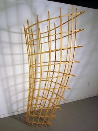 "Piraeus  Joshua Enck  82""x23""x61"" ash 2009"
