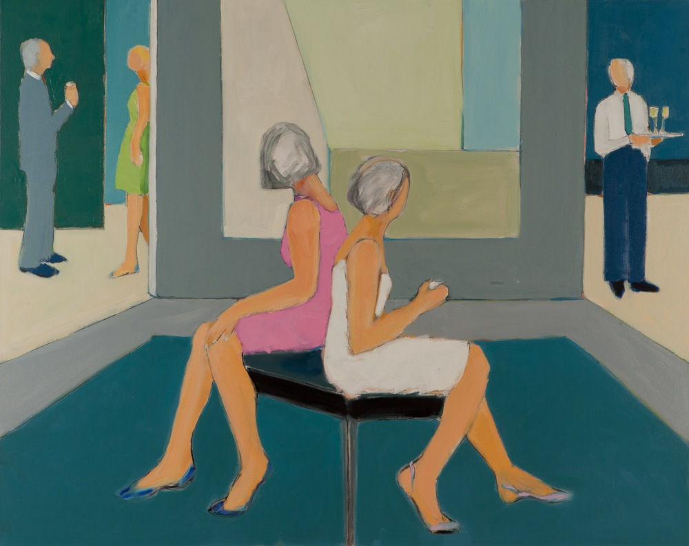 "The Pink Dress  , Sarah Benham, 2012.   48"" x 60"", Oil on canvas  SOLD"