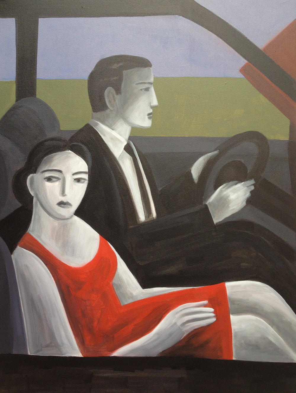 Drive by #2  , Anthony Russo, 2012.  acrylic on canvas