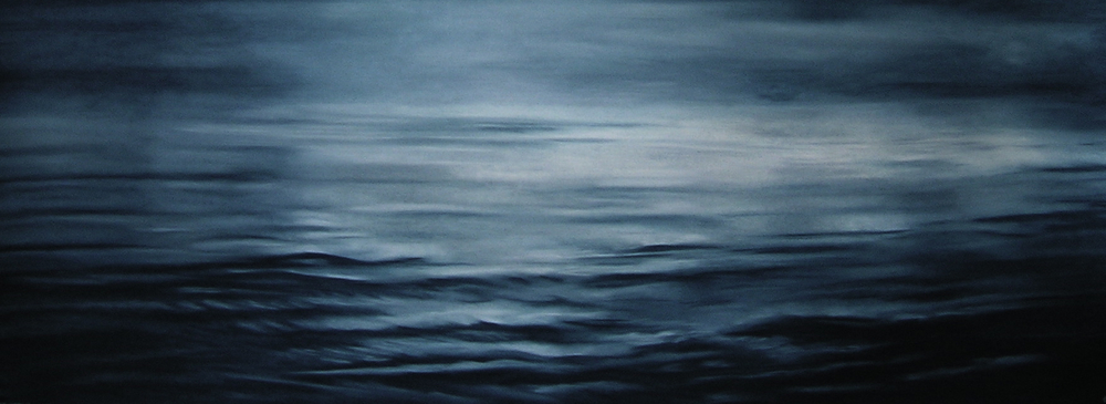 "Greenland #21B  , Zaria Forman.  24.5"" x 66"", soft pastel on paper."
