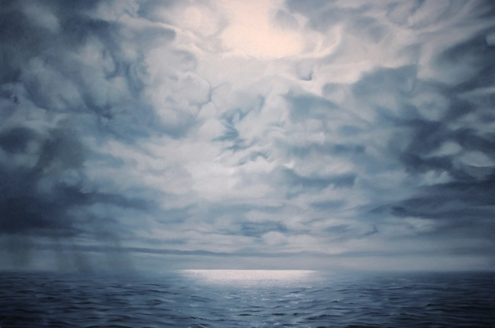 "Greenland #53  , Zaria Forman.  40"" x 60"", soft pastel on paper"