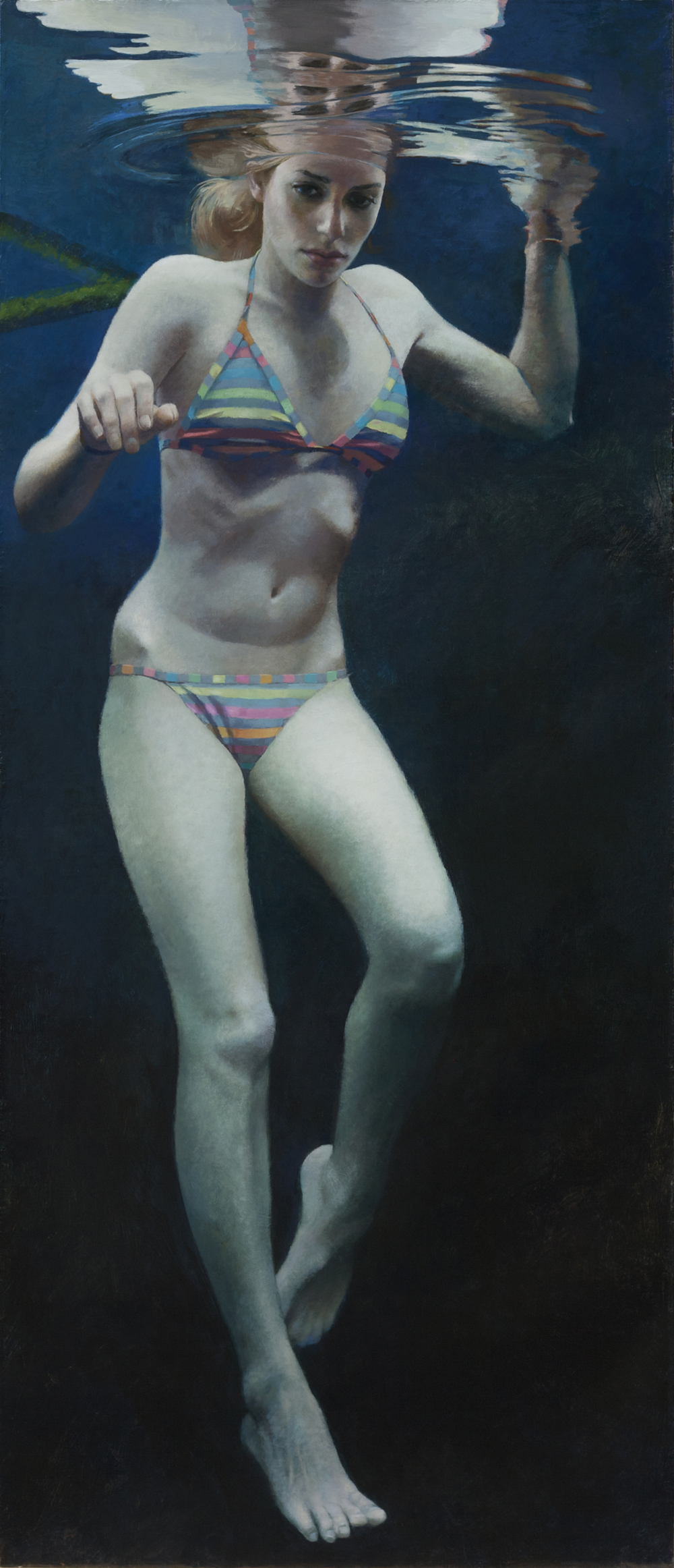 Cenote Series:    Anne Leone, 2011  acrylic on linen
