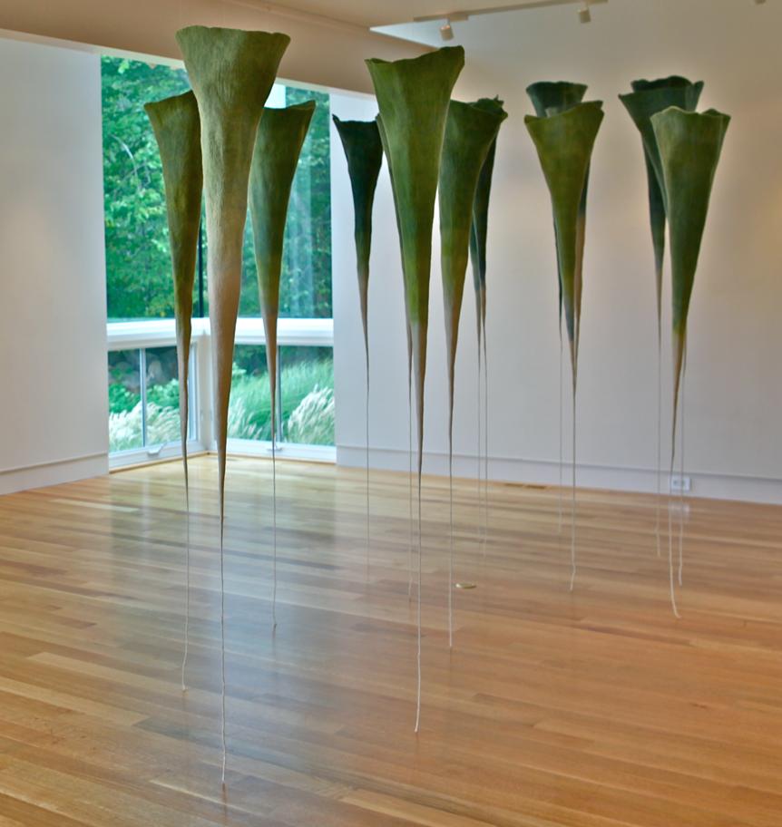 A Forest  , Anna Kristina Goransson, 2012.  9' x 20' x 8', wool, dye