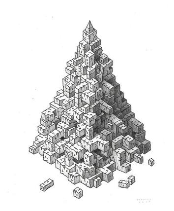 "John Borowicz, 2009.  9 1/4""x 7 1/4"", graphite on paper"