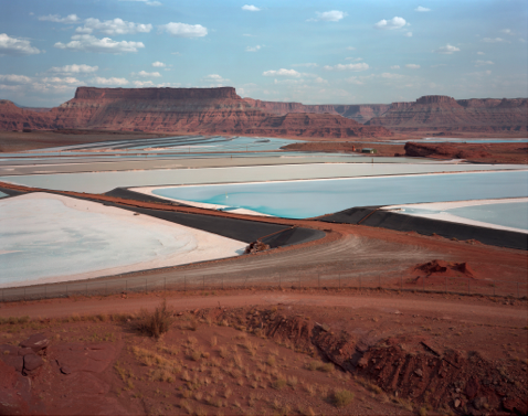 "Potash Evaporation Ponds, near Moab, Utah  , Kipp Wettstein, 2009.   50"" x 60"", digital C-print"