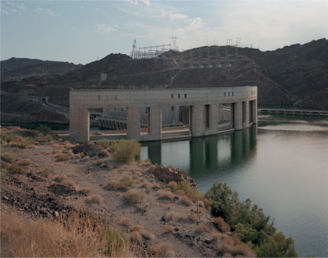 "Parker Dam, Arizona Side  , Kipp Wettstein, 2009.   50"" x 60"", digital C-print"