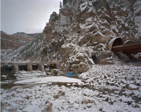 "Shoshone Dam, Colorado,   Kipp Wettstein, 2010.   50"" x 60"", digital C-print"