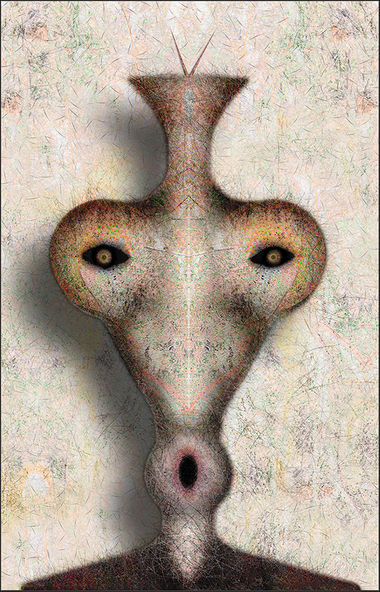 "Faces from the Forest Series 07  , Harvey Goldman, 2013  26"" x 36""  digital print"